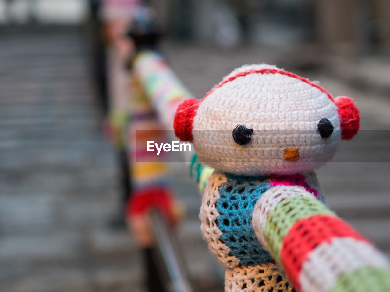 art and craft, multi colored, focus on foreground, wool, no people, close-up, childhood, day, outdoors