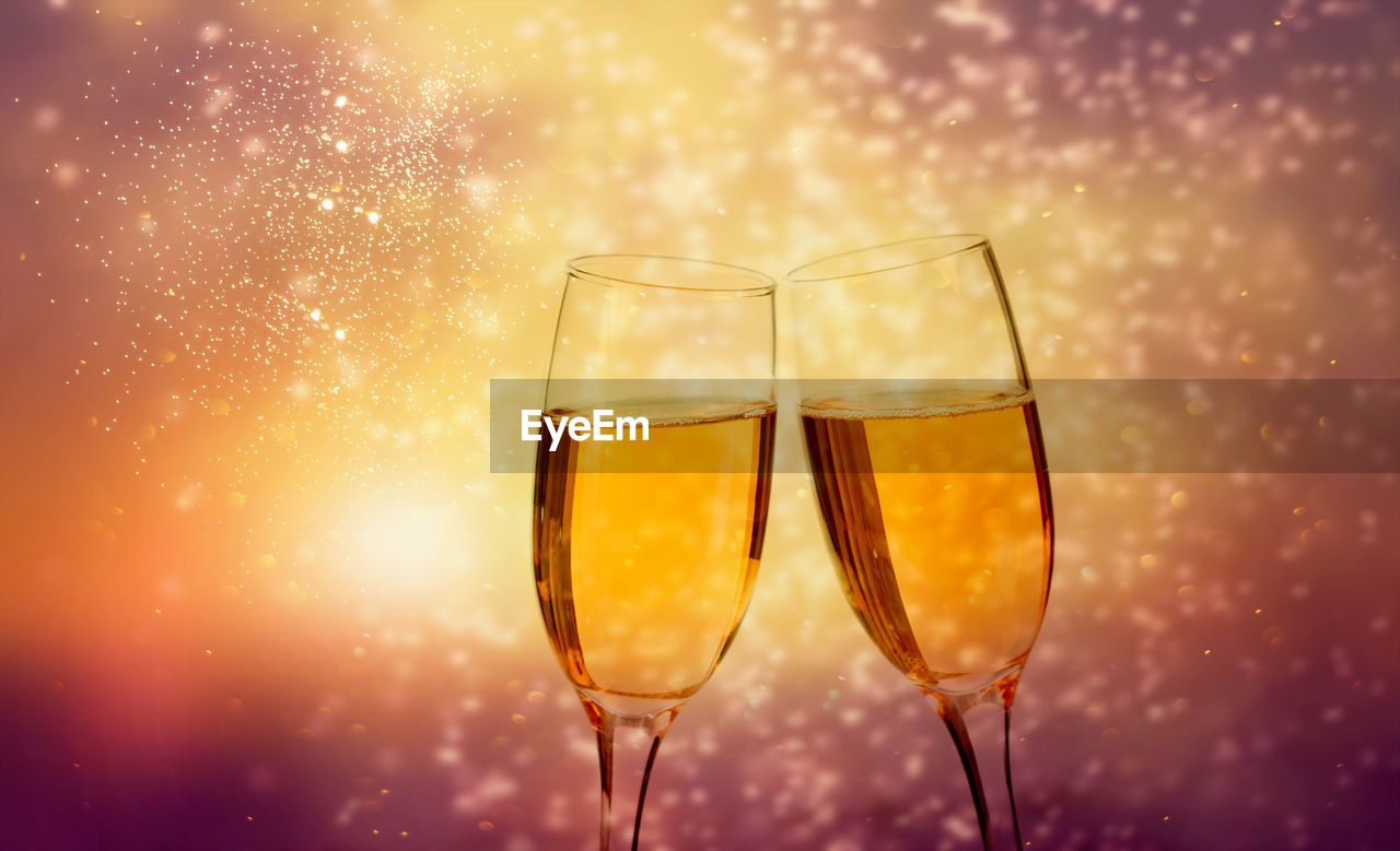 refreshment, drink, food and drink, glass, alcohol, champagne, wine, glass - material, close-up, champagne flute, freshness, household equipment, no people, drinking glass, still life, transparent, orange color, celebration, wineglass, nature