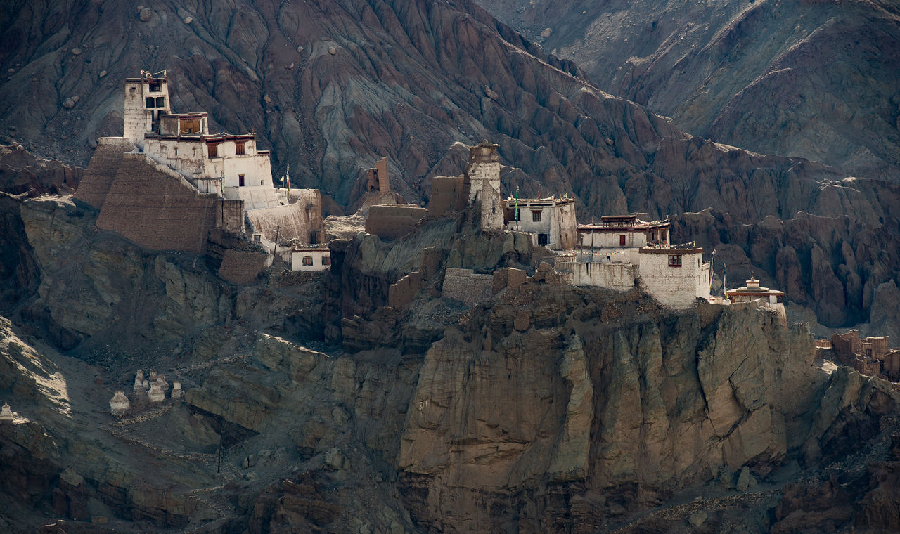 Historical Buildings On Mountains