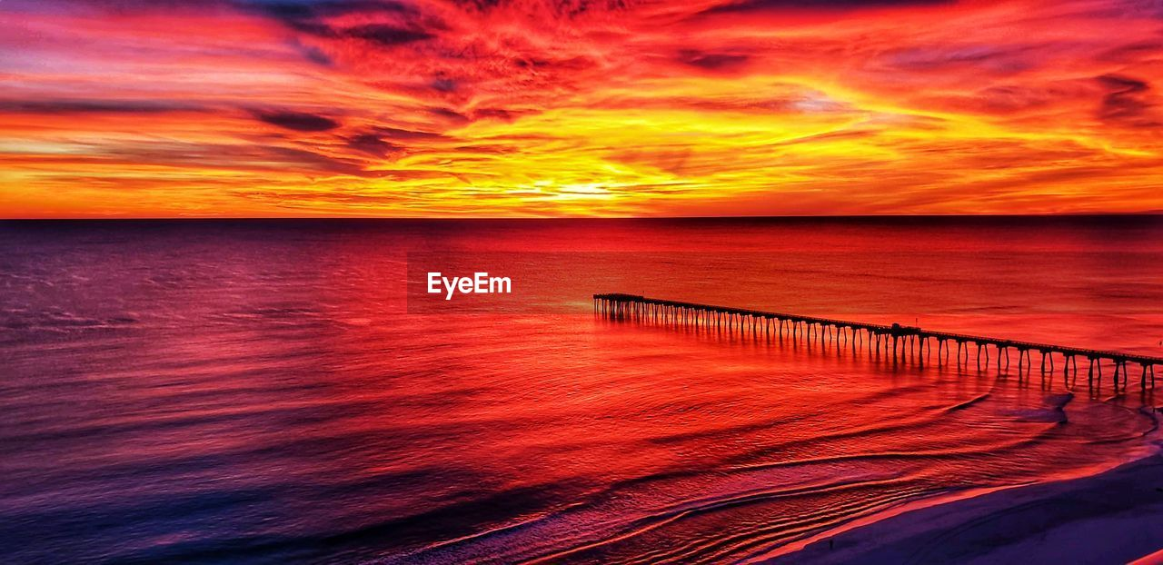 sunset, sky, sea, water, scenics - nature, horizon, horizon over water, beauty in nature, cloud - sky, orange color, tranquil scene, tranquility, nature, idyllic, dramatic sky, no people, waterfront, beach, non-urban scene, outdoors, romantic sky