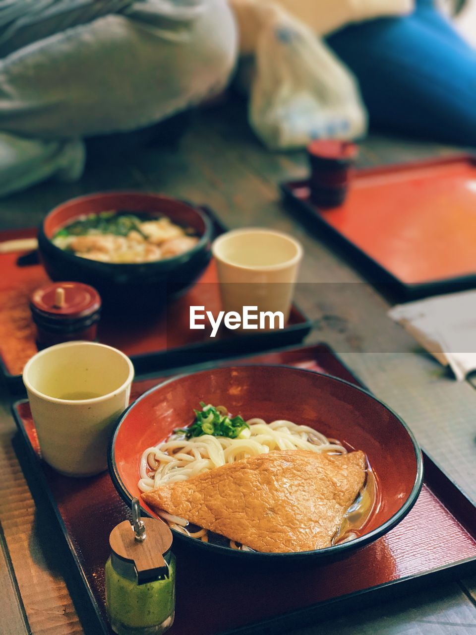 Vegeterian udon noodles