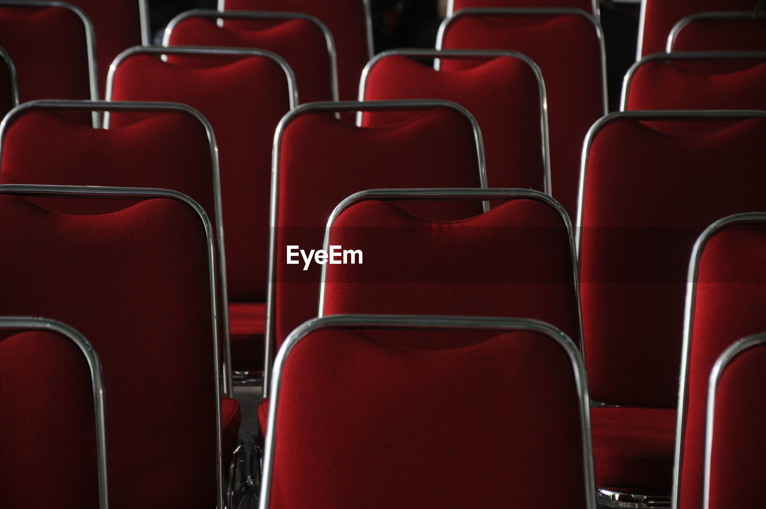 Full frame shot of seats at auditorium