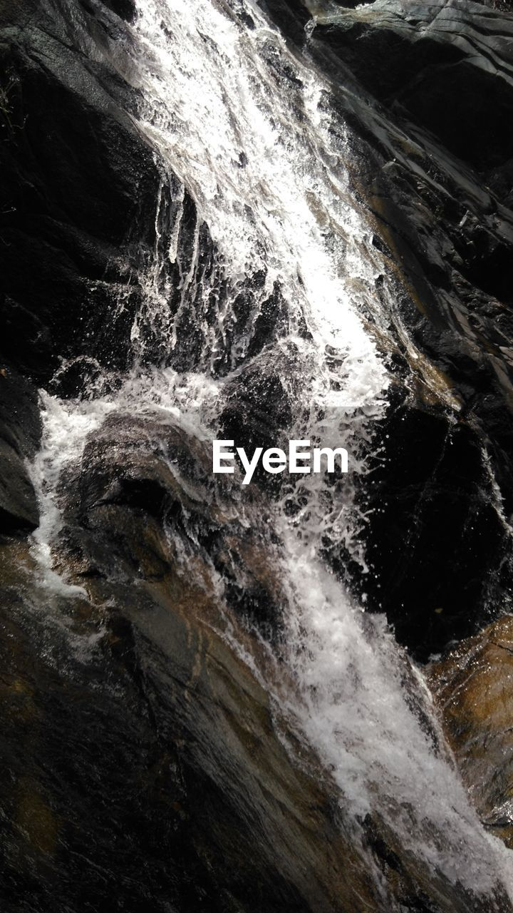 waterfall, rock - object, no people, water, scenics, power in nature, outdoors, nature, day