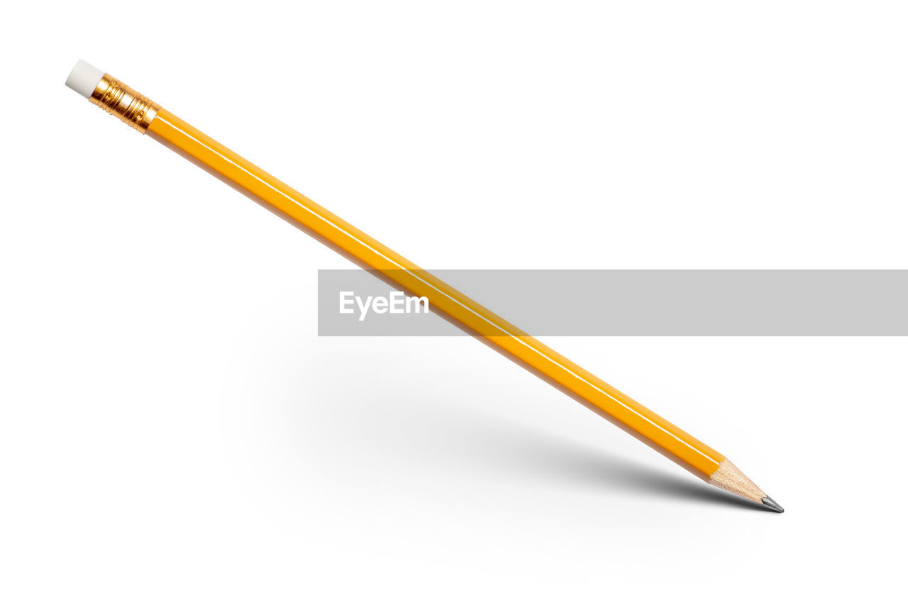 Close-up of pencil against white background