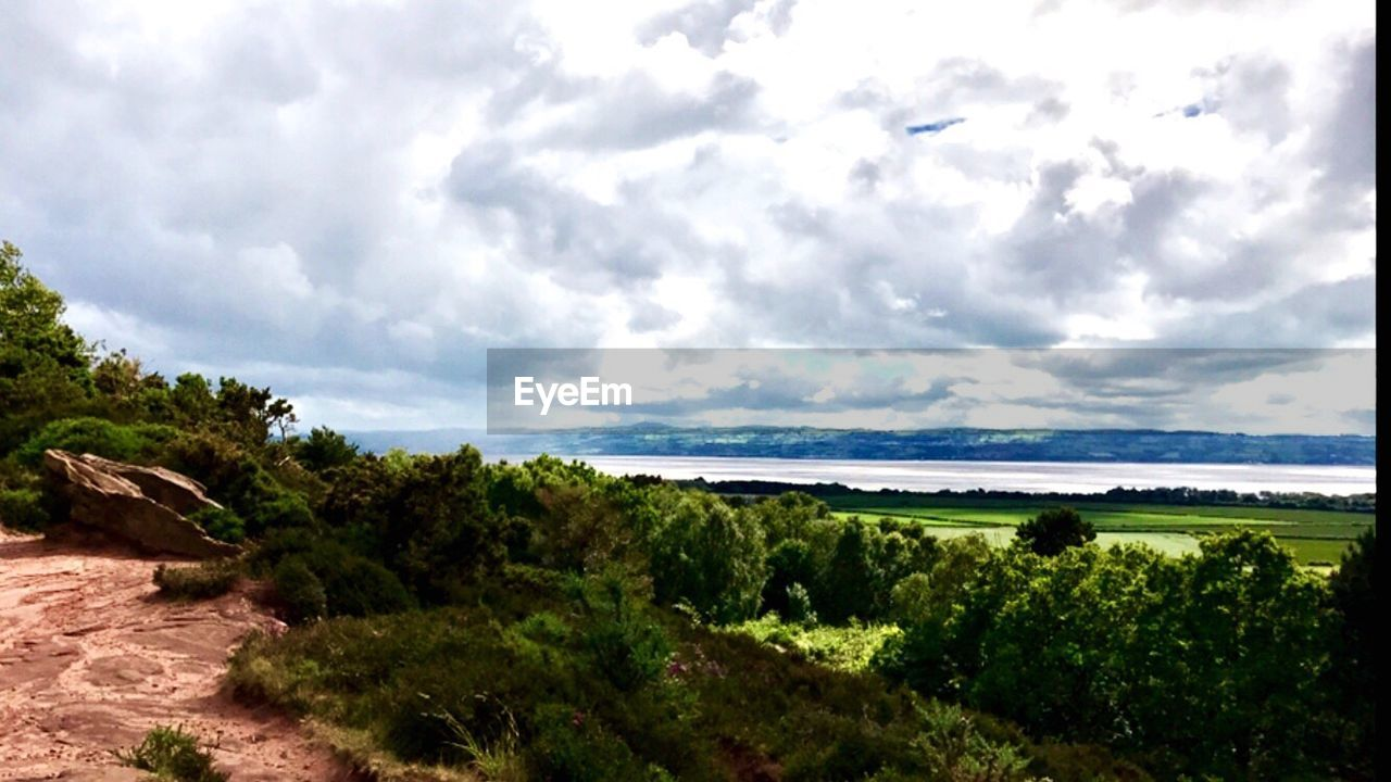 sky, sea, nature, cloud - sky, beauty in nature, tranquility, scenics, tranquil scene, day, outdoors, horizon over water, landscape, tree, no people, water