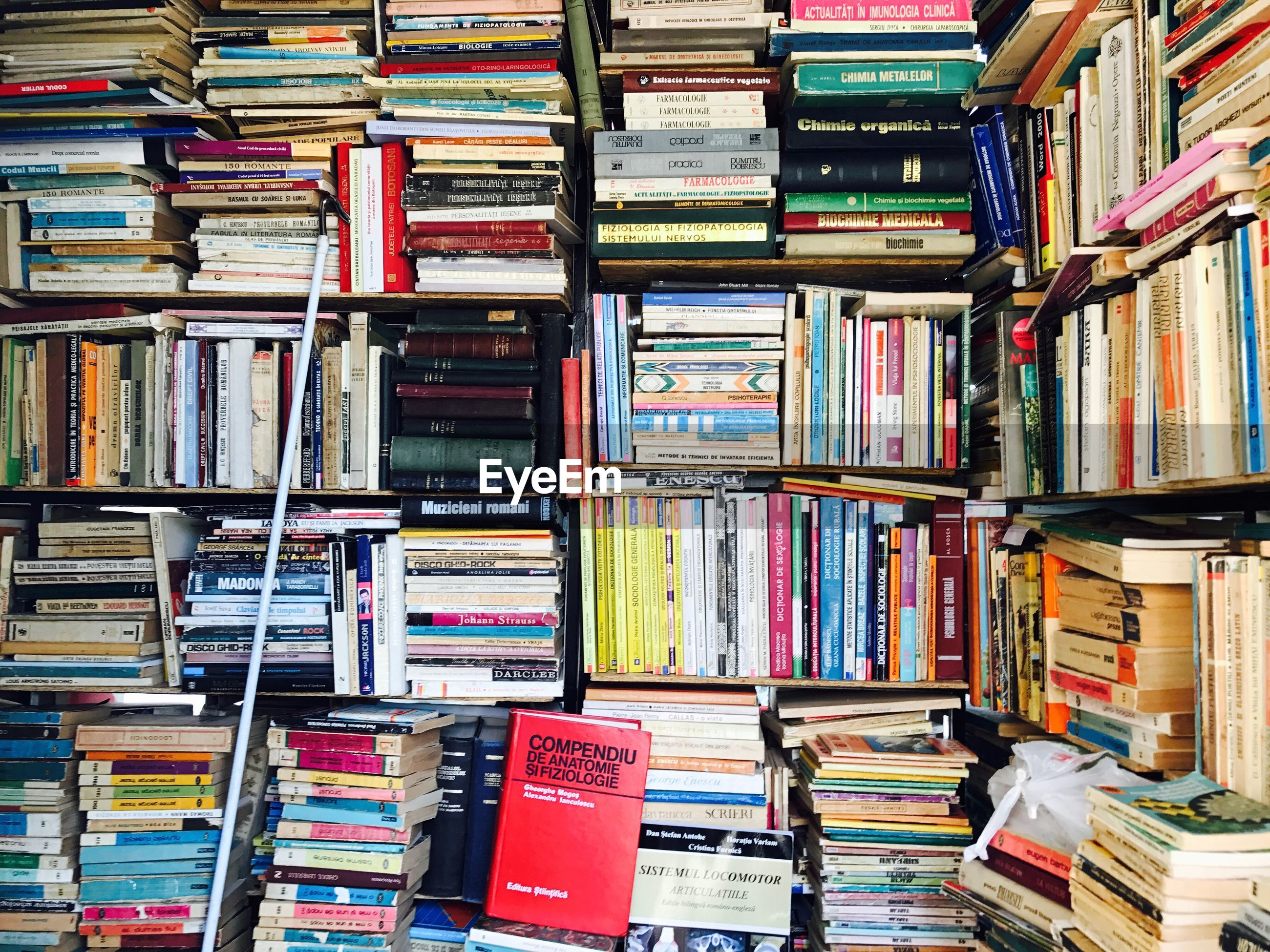 Stack of books at store