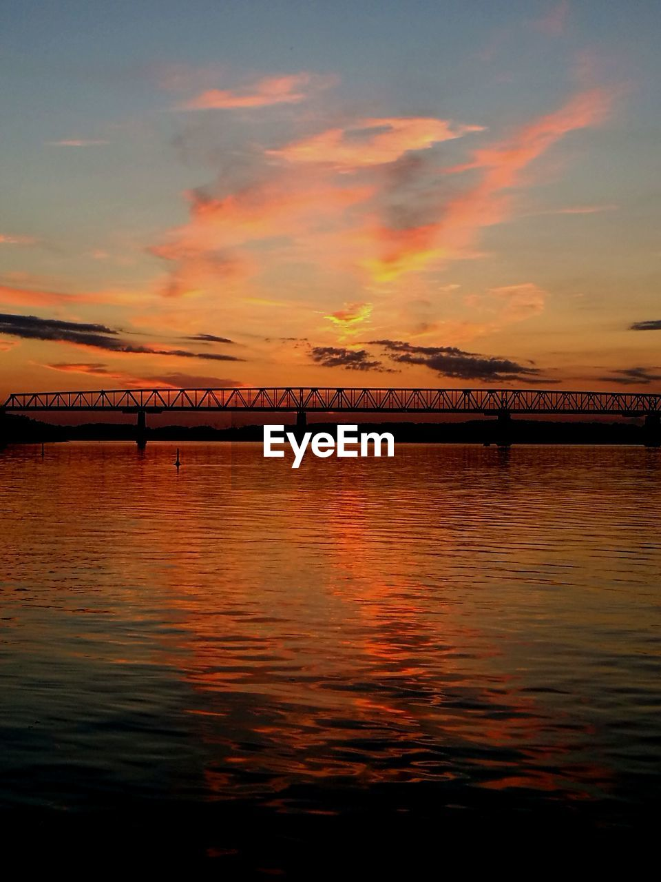 water, sky, sunset, cloud - sky, scenics - nature, waterfront, beauty in nature, bridge, transportation, orange color, nature, no people, reflection, bridge - man made structure, tranquil scene, connection, tranquility, architecture, sea, outdoors