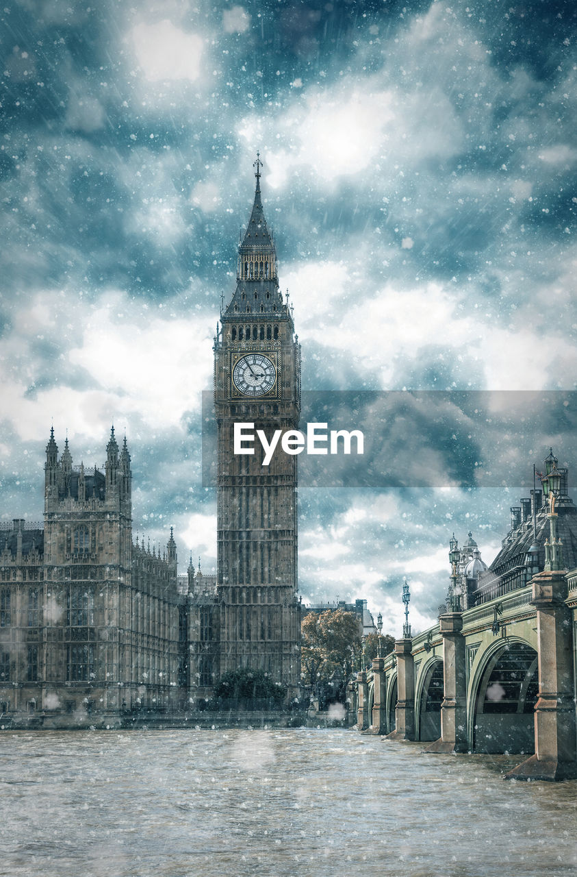 View Of Big Ben In The Snow