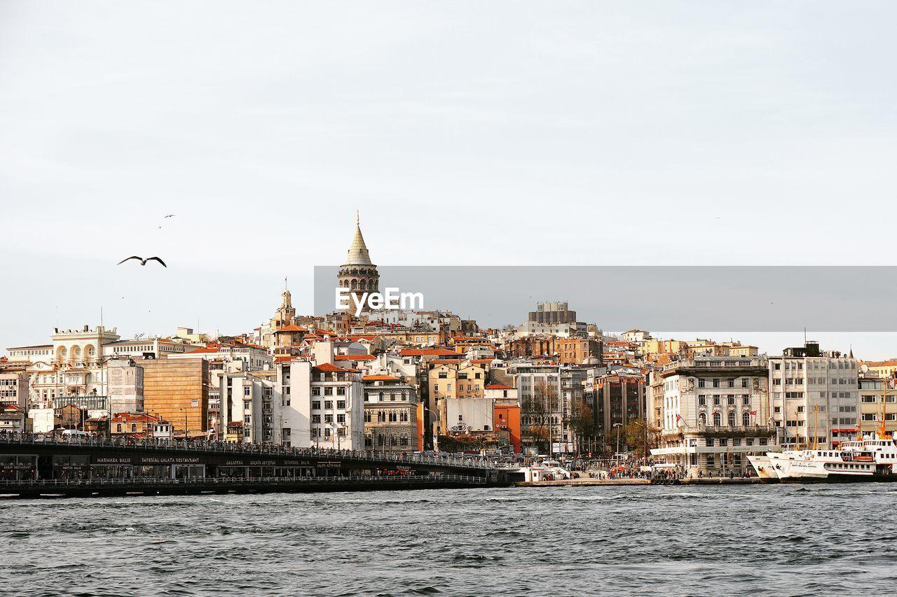 Istanbul Cityscape Against Clear Sky