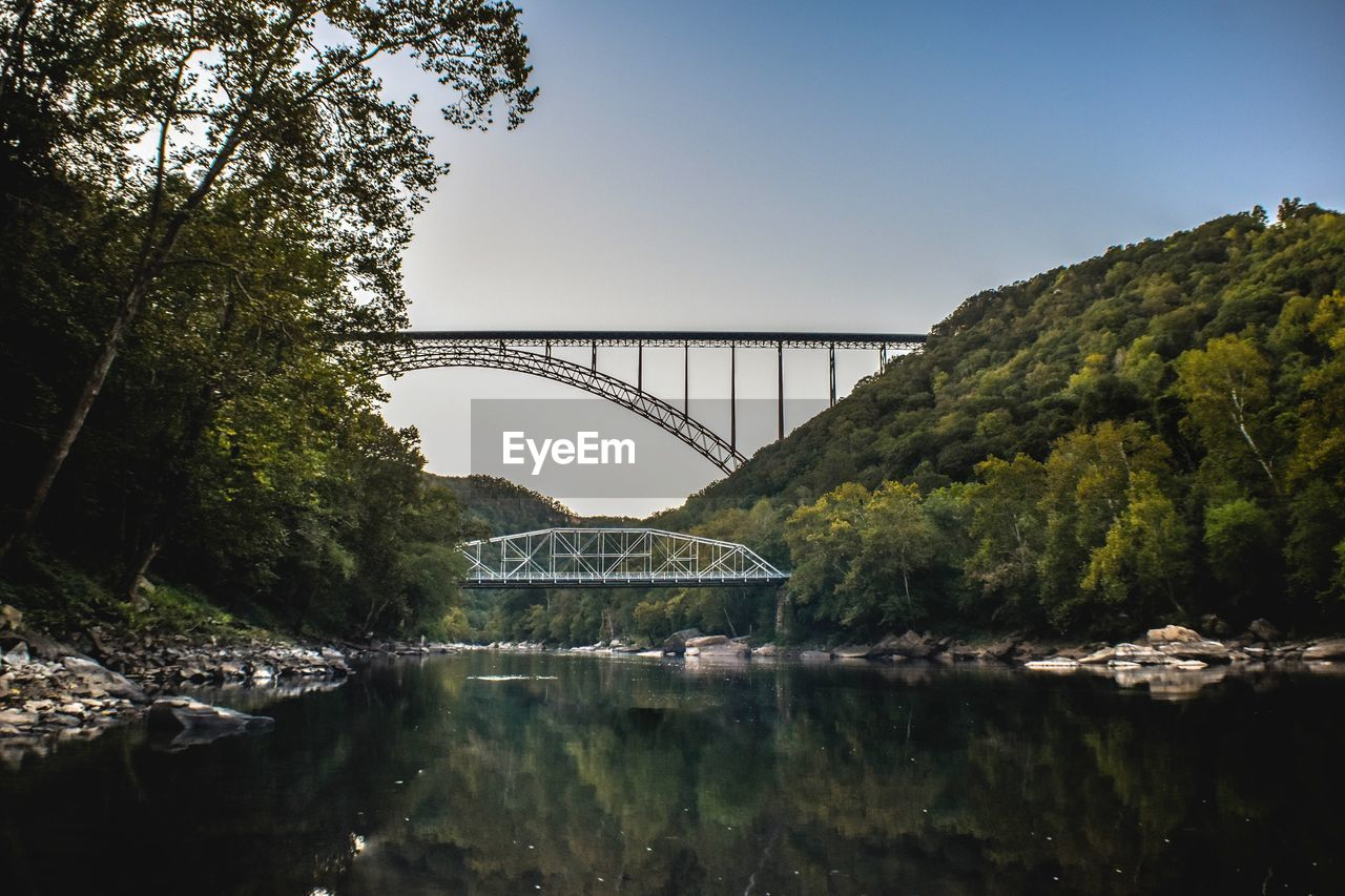 bridge - man made structure, connection, engineering, architecture, built structure, water, river, transportation, tree, bridge, no people, arch, nature, outdoors, day, sky