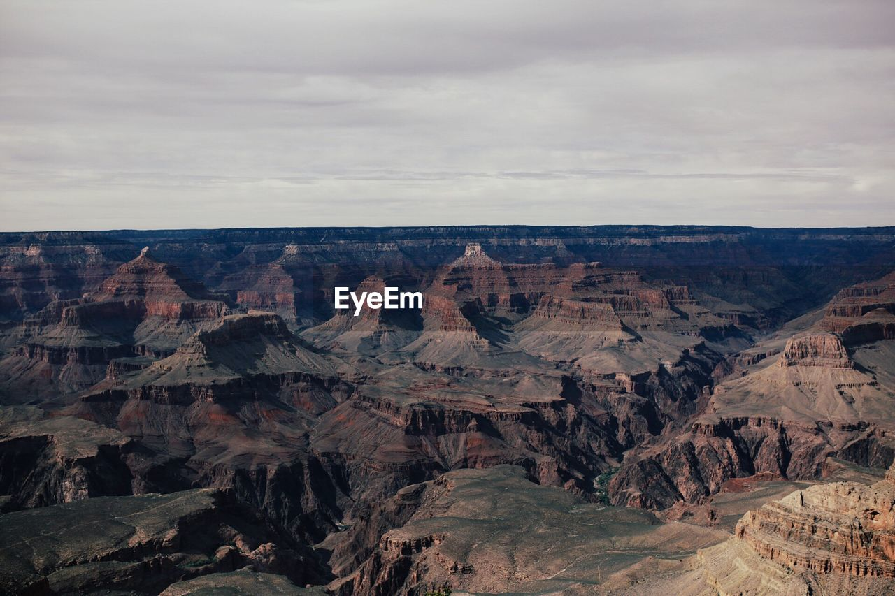 High Angle View Of Grand Canyon Against Clear Sky