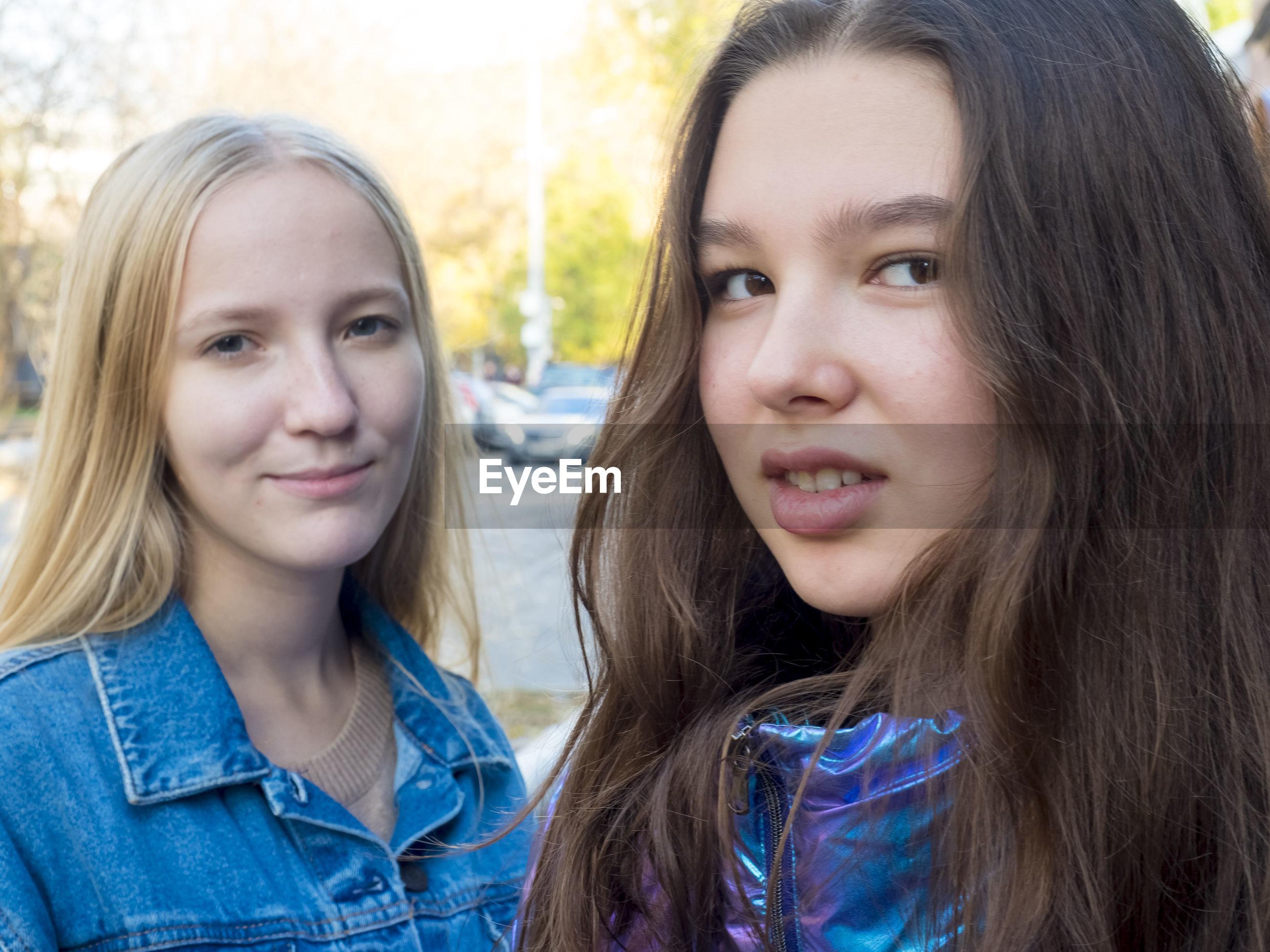 Portrait of female friends