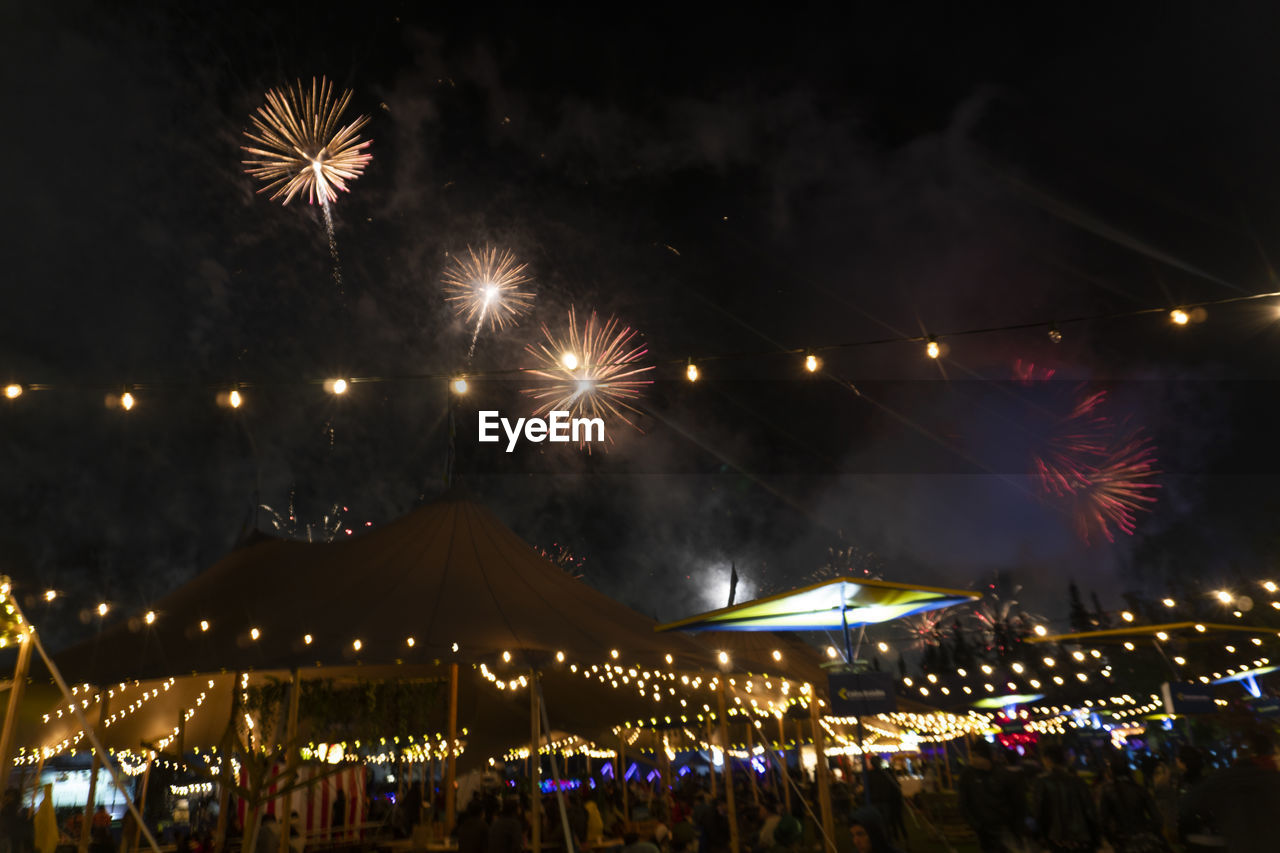 illuminated, night, celebration, motion, arts culture and entertainment, firework, firework display, exploding, glowing, sky, event, blurred motion, long exposure, smoke - physical structure, light, nature, firework - man made object, lighting equipment, architecture, outdoors, sparks