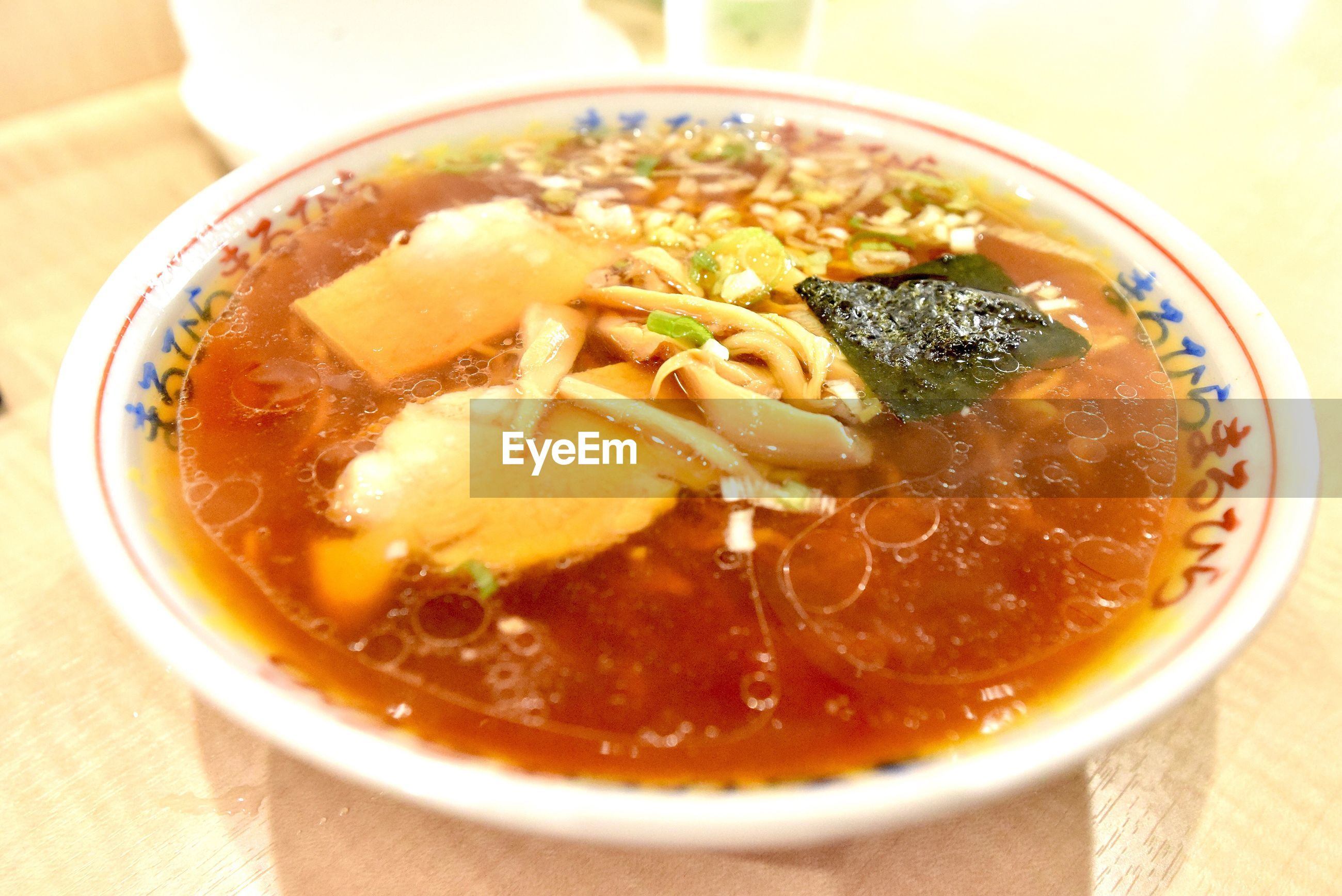 food and drink, food, ready-to-eat, bowl, soup, healthy eating, freshness, close-up, wellbeing, indoors, pasta, table, italian food, serving size, asian food, no people, meat, still life, high angle view, soup bowl, noodle soup, japanese food, vegetable soup, garnish, crockery, chinese food