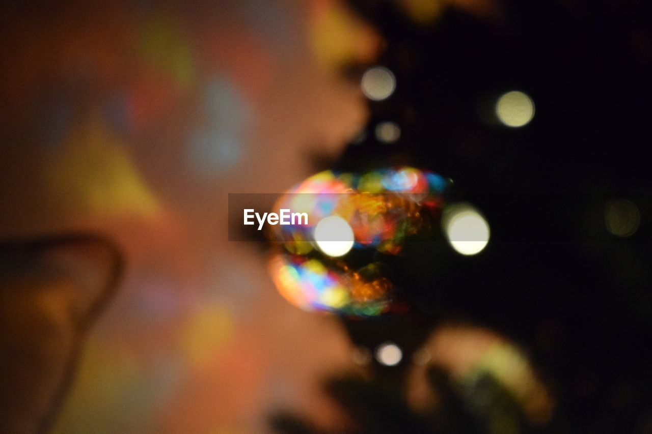 multi colored, close-up, pattern, no people, indoors, illuminated, defocused, night, bubble wand