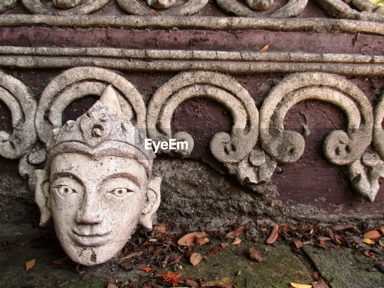 art and craft, representation, sculpture, craft, no people, creativity, architecture, carving - craft product, day, statue, history, the past, close-up, human representation, religion, belief, old, spirituality, built structure, building, outdoors, ornate, carving, bas relief