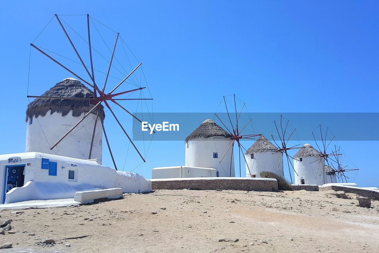 TRADITIONAL WINDMILL AGAINST CLEAR SKY