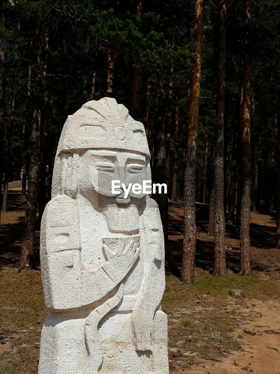 statue, sculpture, human representation, carving - craft product, religion, tree, no people, spirituality, day, outdoors, nature