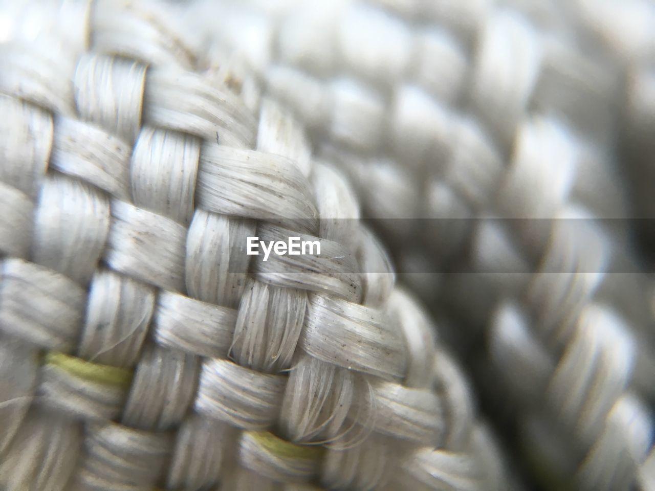 Close-Up Of Twisted Fiber