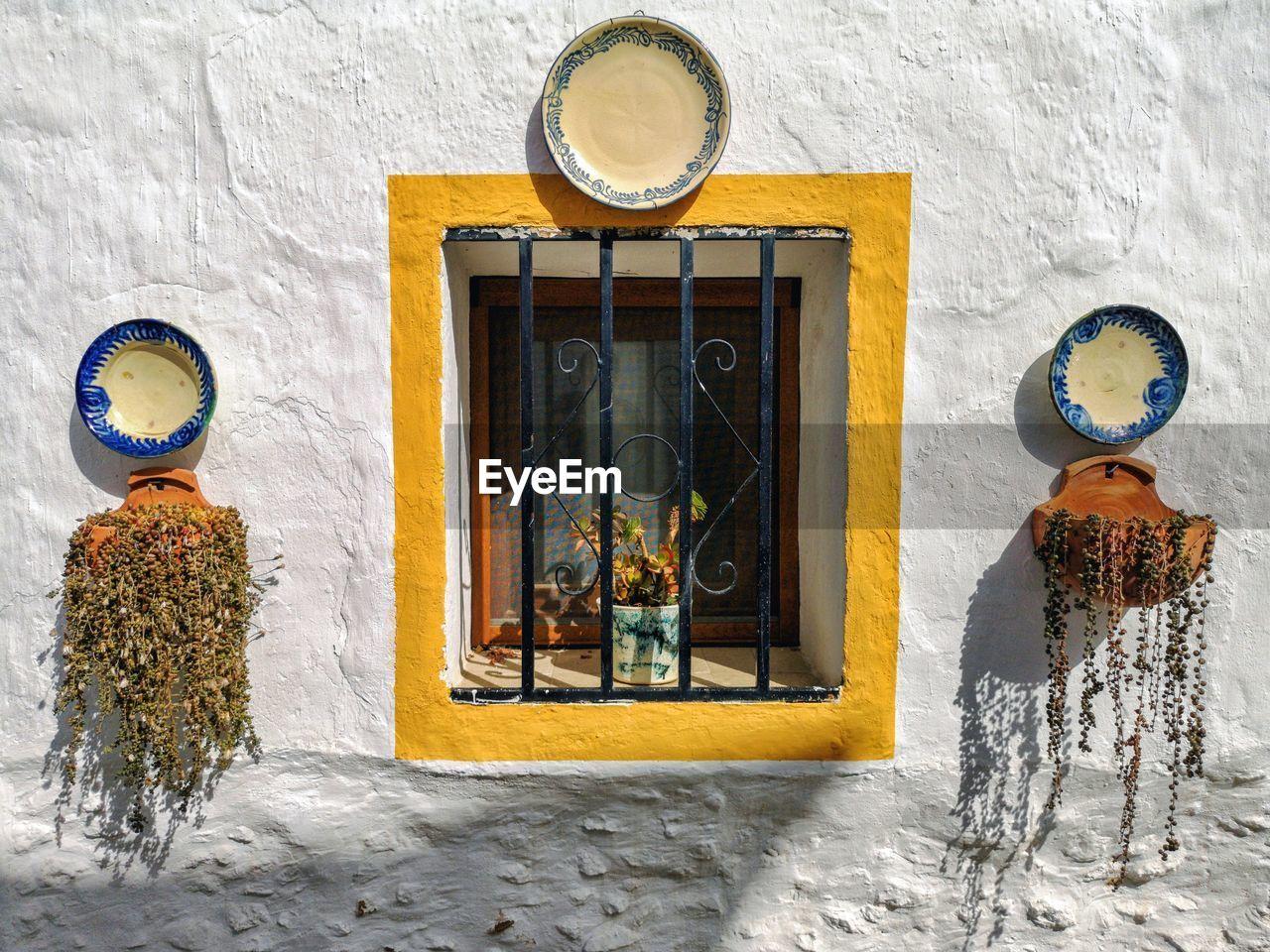 Typical window in nijar, almeria, spain