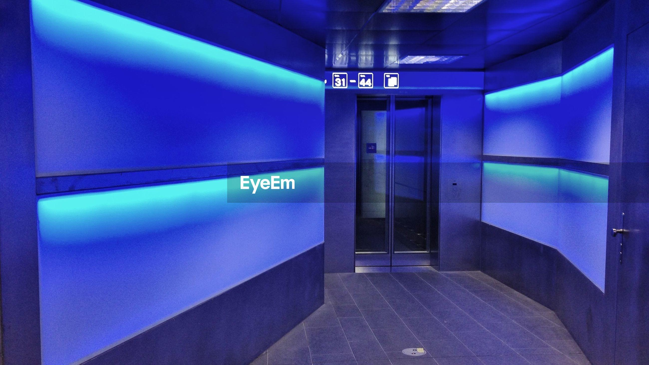 Elevator in underground subway station