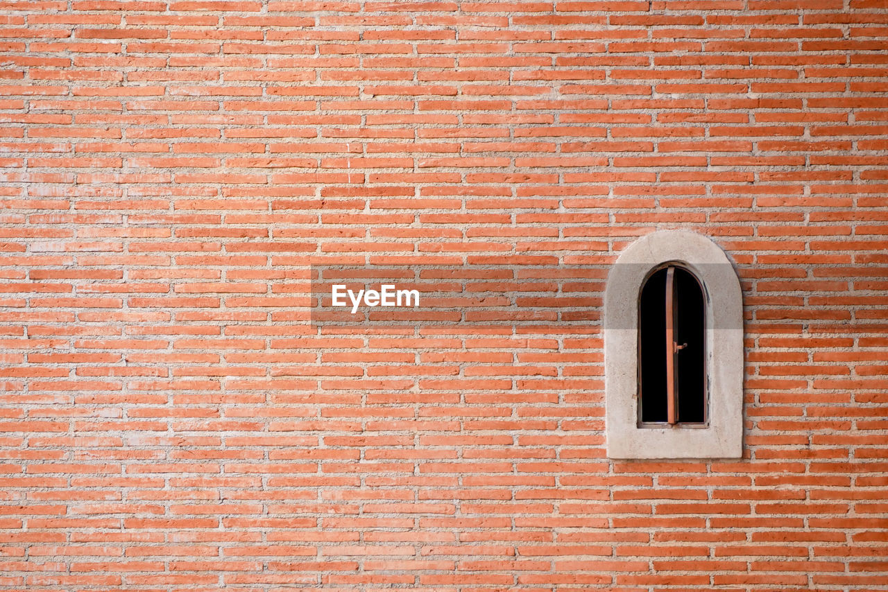 brick, brick wall, wall, wall - building feature, architecture, built structure, red, no people, backgrounds, full frame, window, building exterior, copy space, pattern, day, door, entrance, outdoors, textured, geometric shape