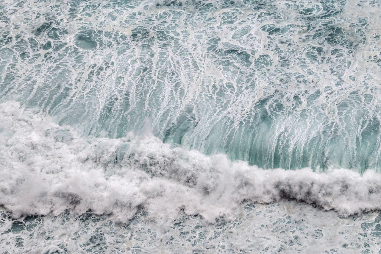 Full Frame Shot Of Waves Splashing In Sea