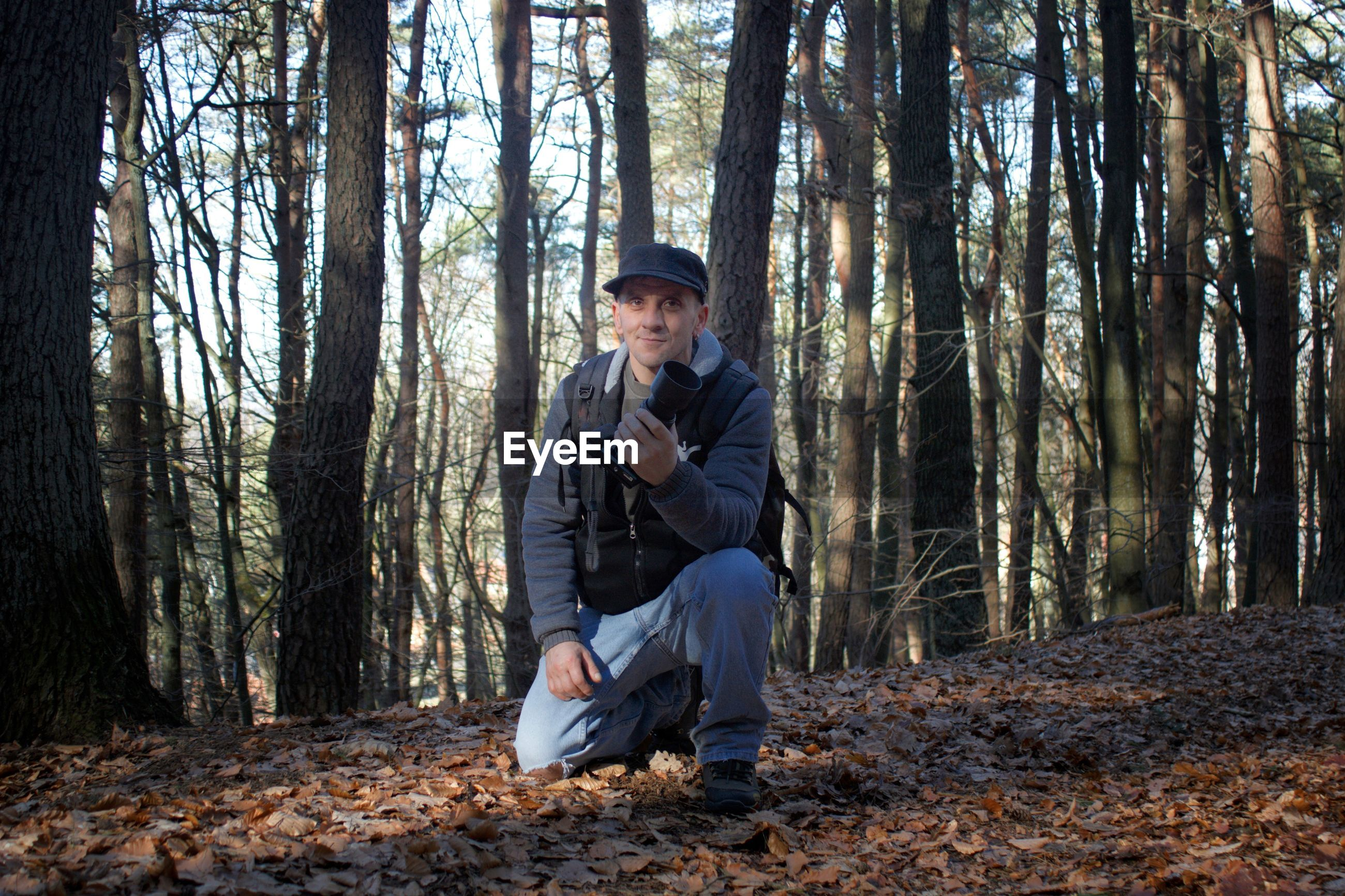 Full length of man in forest