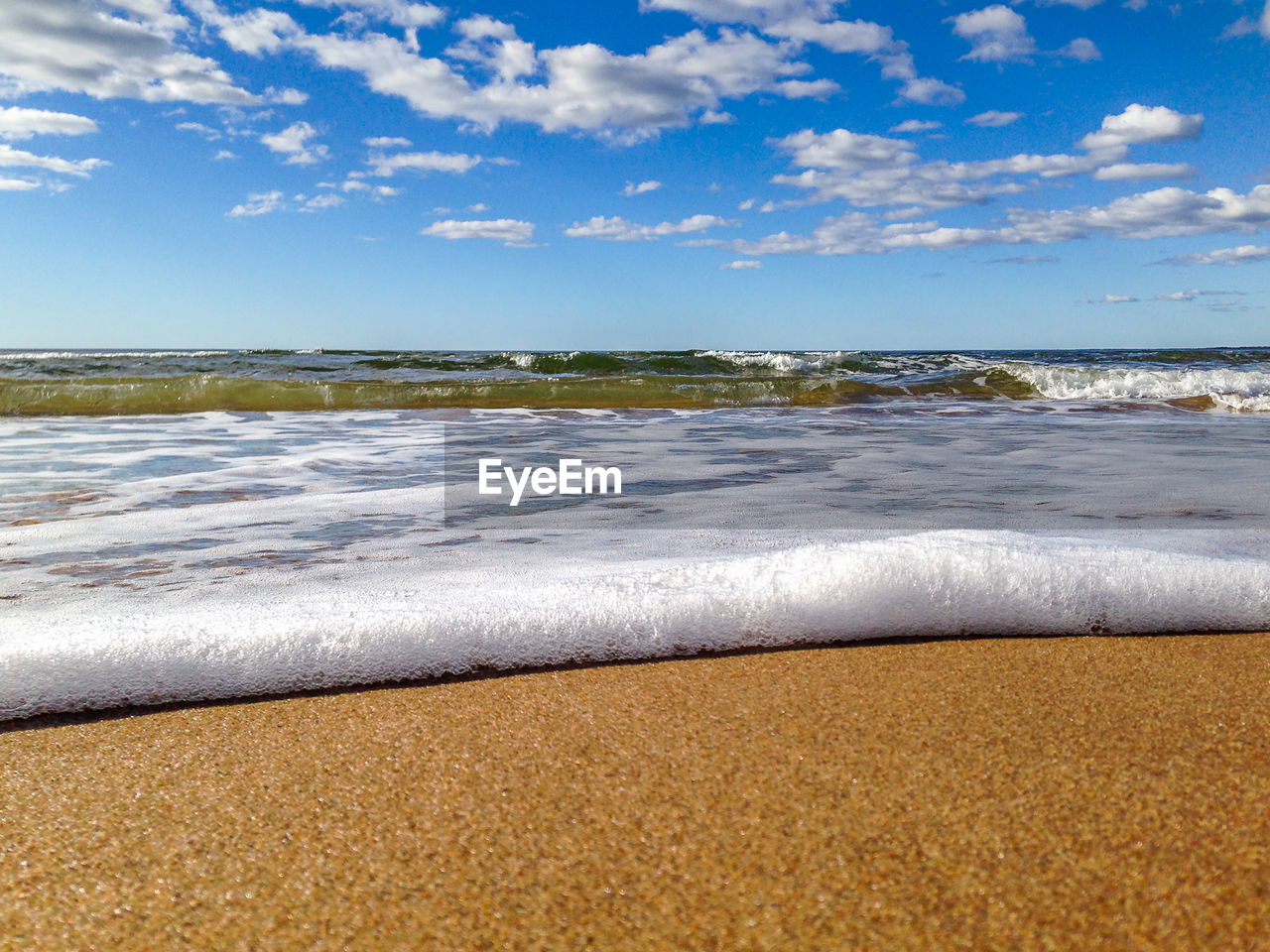 Surface Level Of Calm Beach