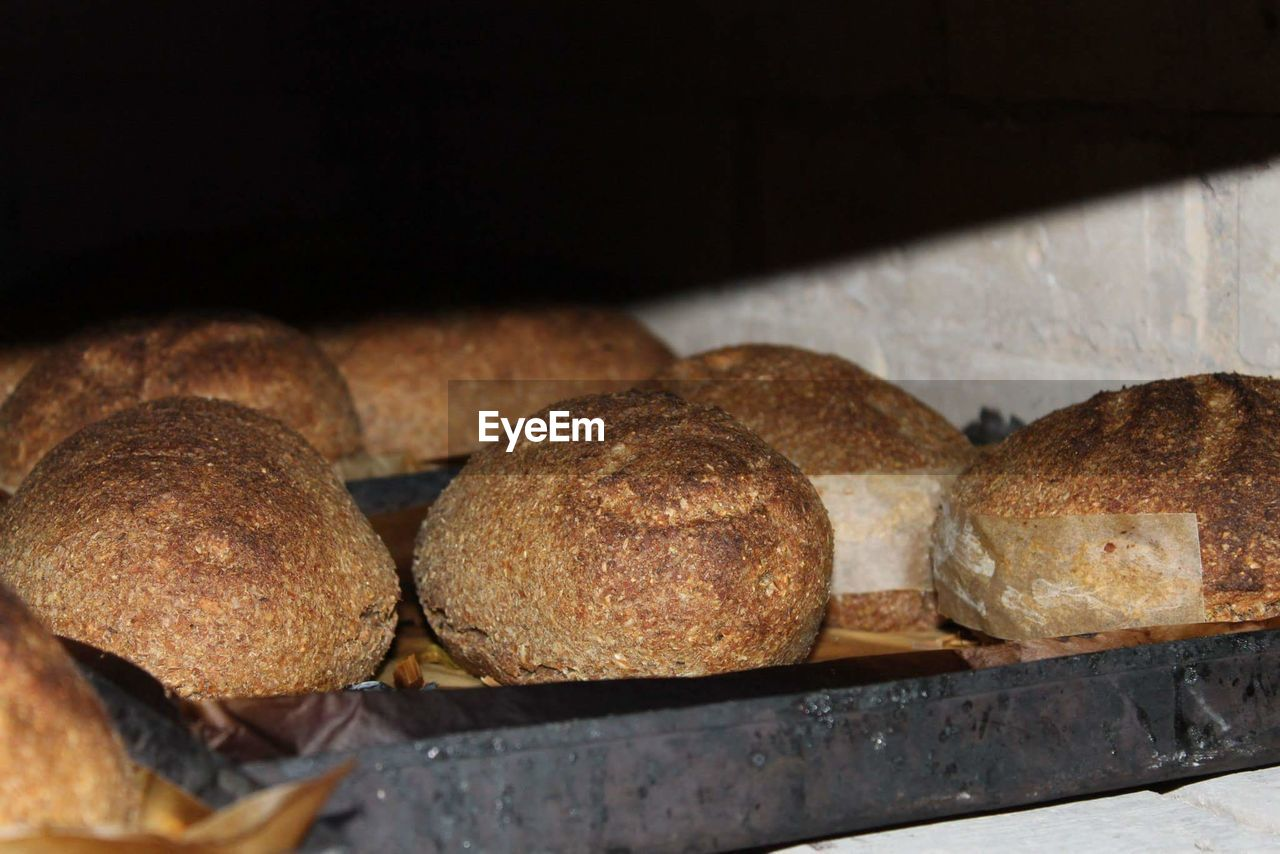 CLOSE-UP OF BREAD ON STORE