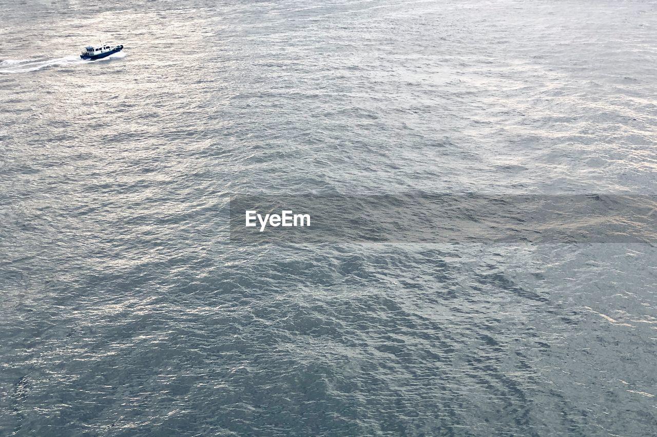 High Angle View Of Rippled Sea