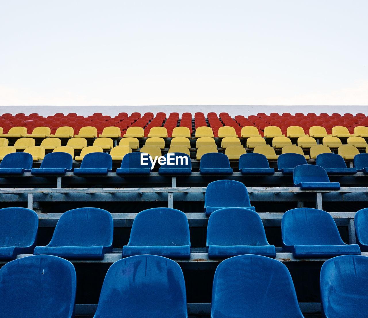 Empty Stadium Chairs