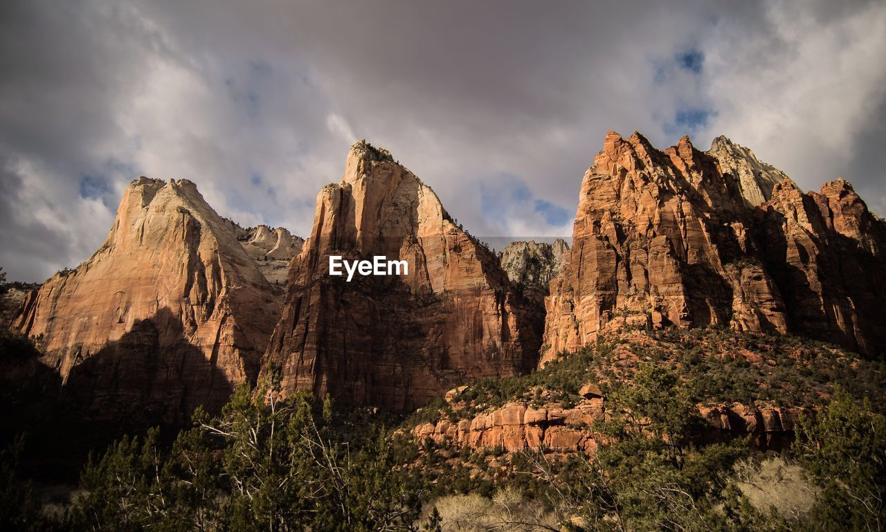 Low Angle View Of Mountain With Sky In Background