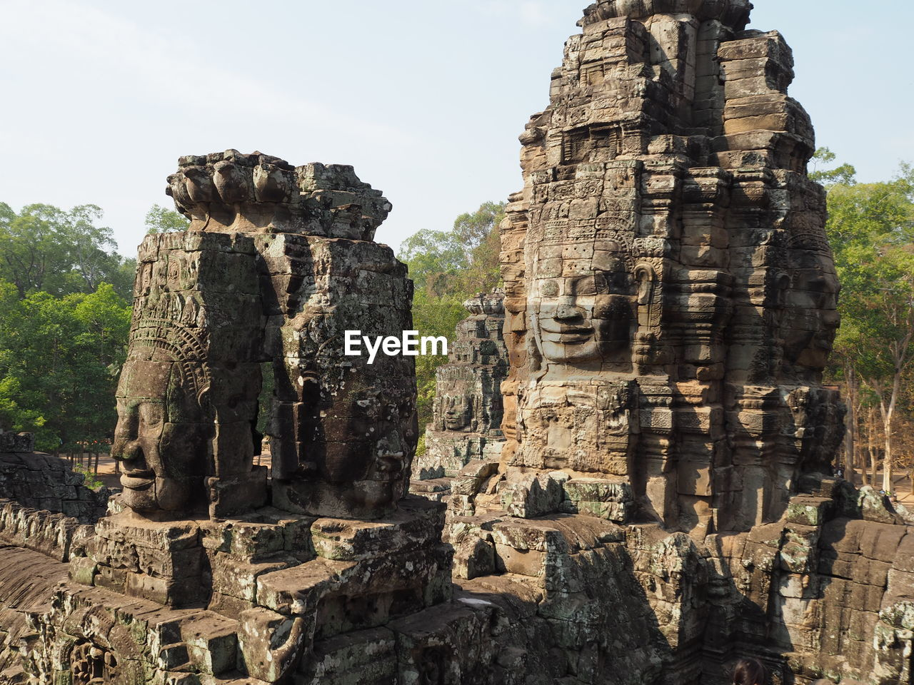 Bayon Temple Against Clear Sky
