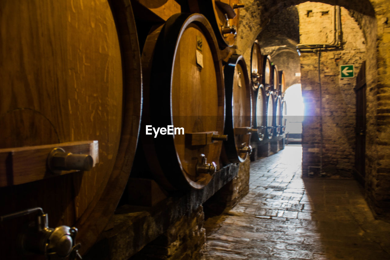 wine cellar, indoors, wood - material, wine, wine cask, winery, barrel, food and drink industry, winemaking, cellar, no people, distillation, day