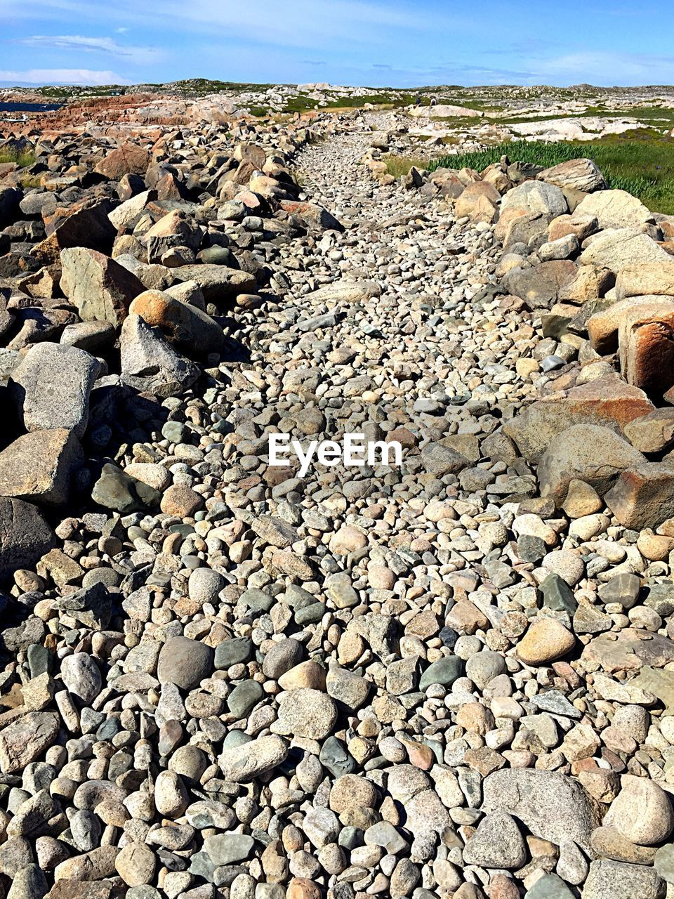 rock - object, pebble, nature, day, beach, no people, outdoors, pebble beach, sunlight, tranquility, beauty in nature, sky