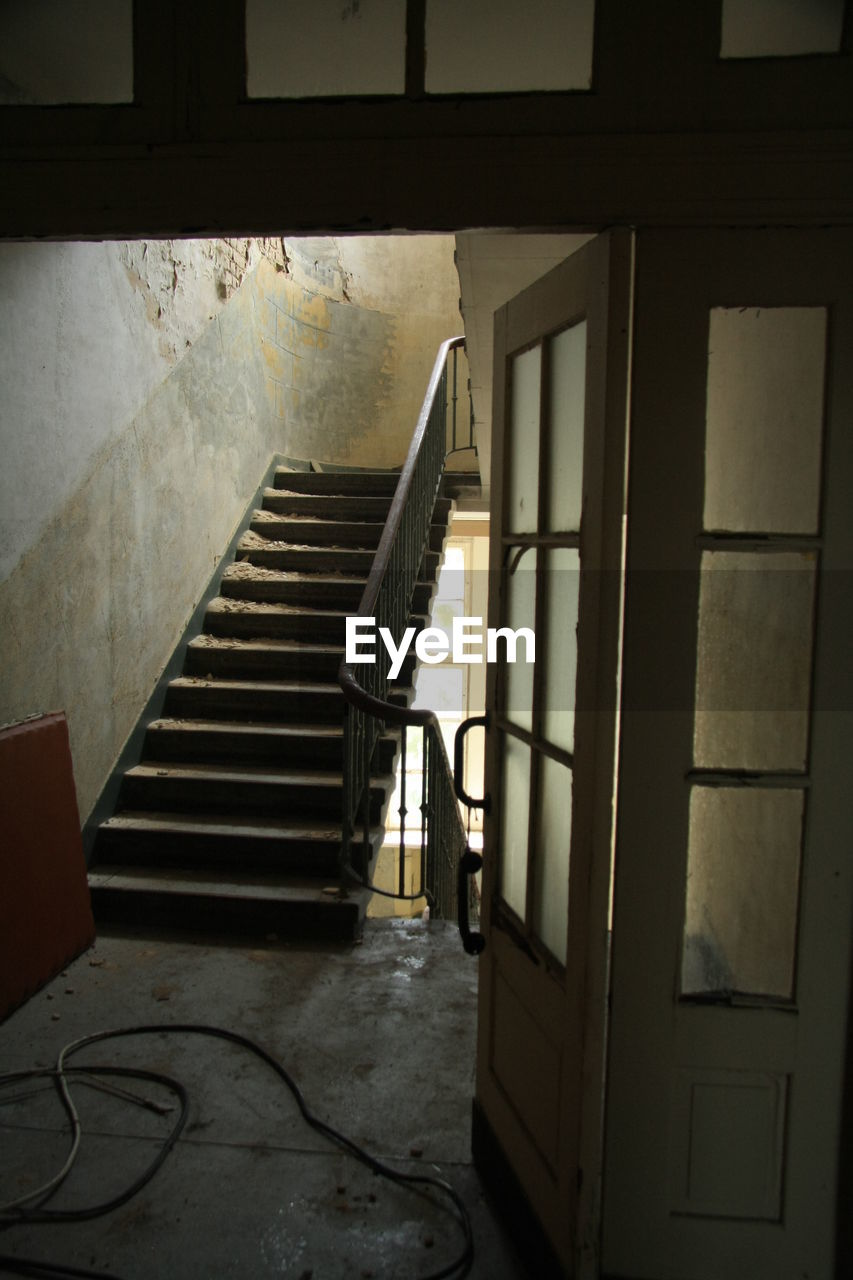 indoors, staircase, window, steps, house, home interior, architecture, no people, day