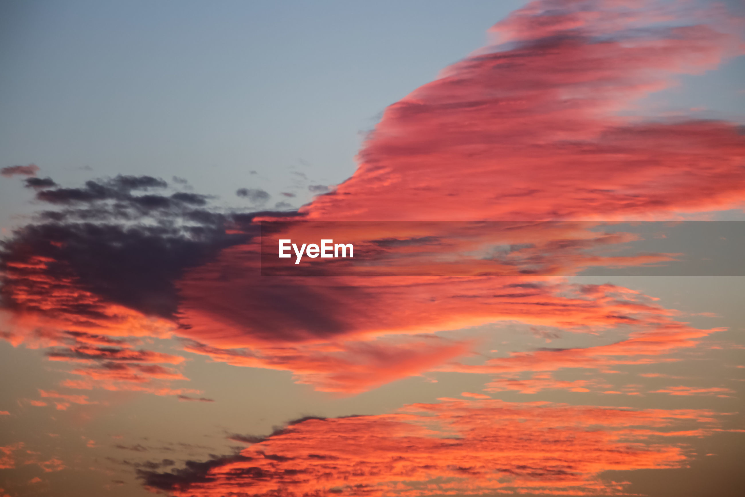 LOW ANGLE VIEW OF RED ORANGE SKY