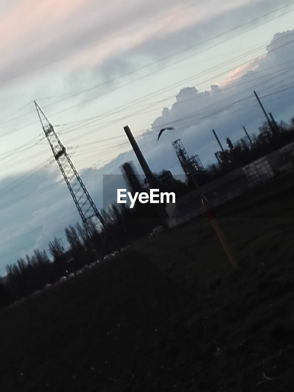 sky, cloud - sky, no people, industry, sunset, outdoors, electricity pylon, nature, day, technology, water
