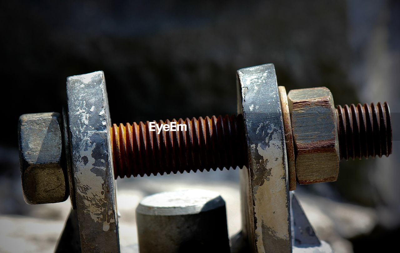 Close-Up Of Nut And Bolt