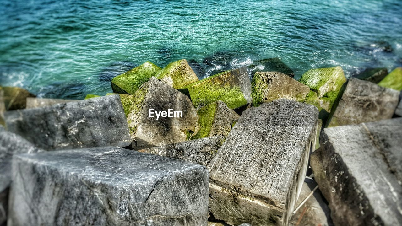 water, rock - object, day, sea, no people, nature, high angle view, outdoors, beauty in nature, close-up