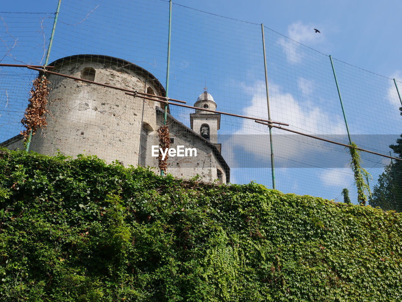 architecture, built structure, building exterior, sky, plant, nature, low angle view, building, no people, day, tree, wall, wall - building feature, history, outdoors, tower, the past, old, water, growth