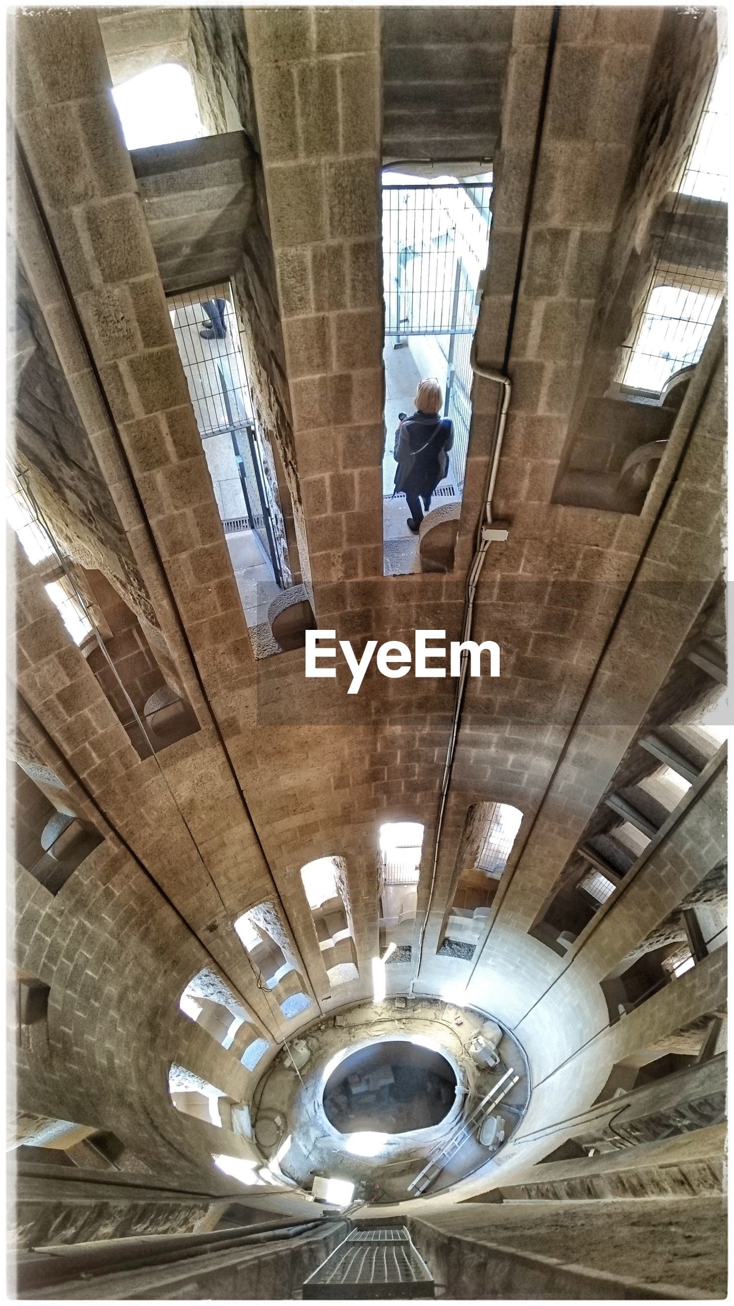 indoors, low angle view, built structure, architecture, day, staircase, no people