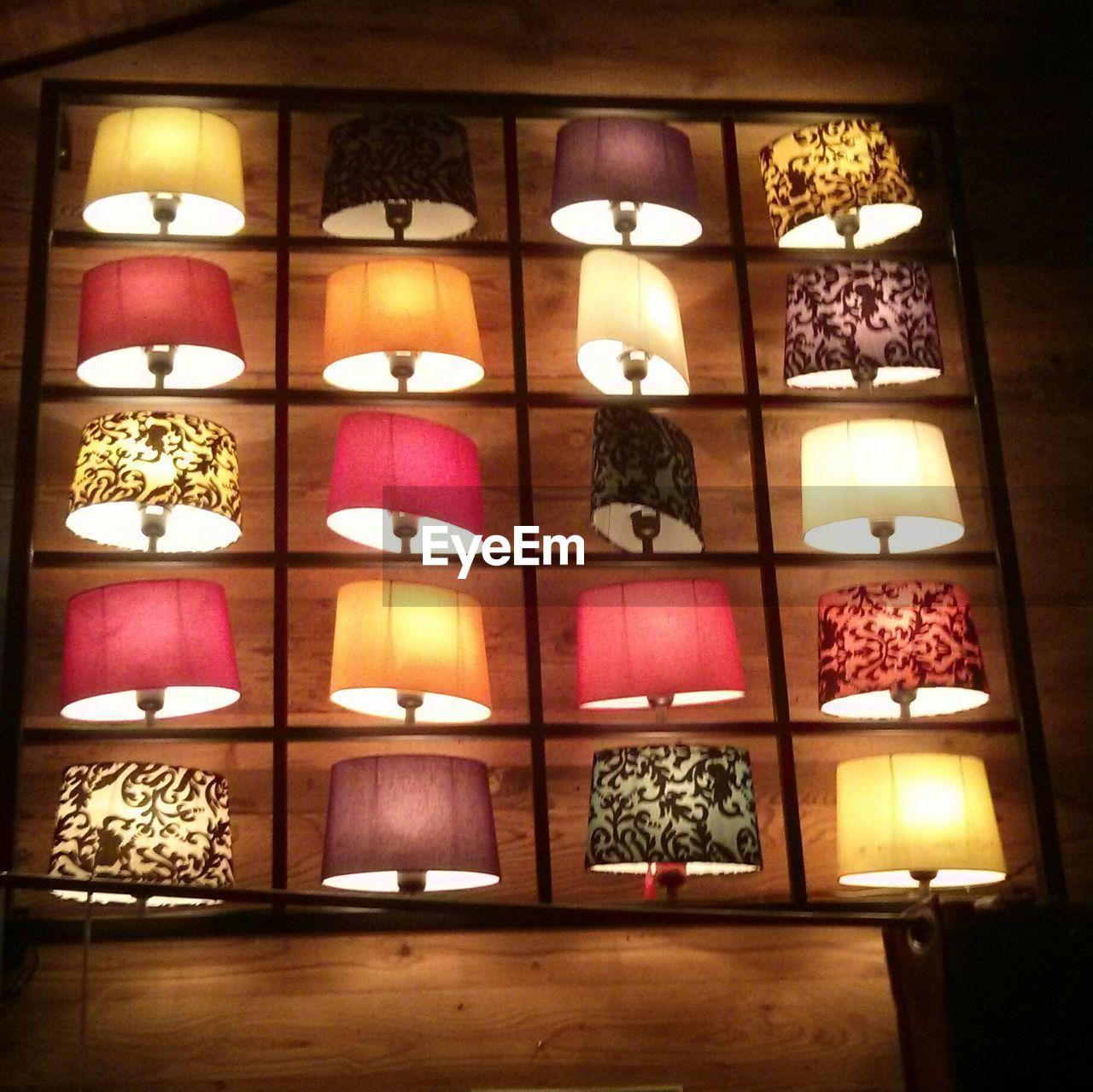 illuminated, lighting equipment, indoors, candle, no people, electricity, lantern, night, architecture, close-up