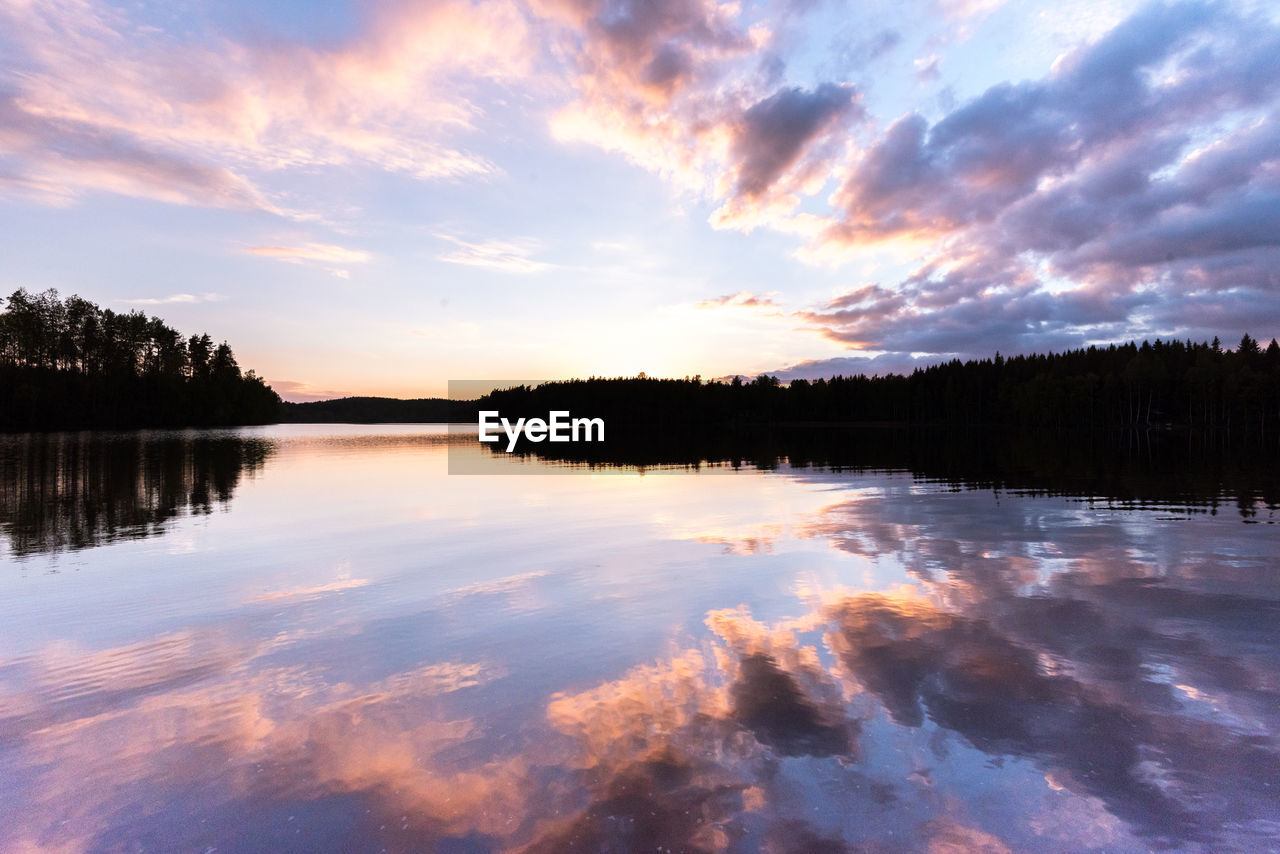 LAKE AGAINST SKY DURING SUNSET