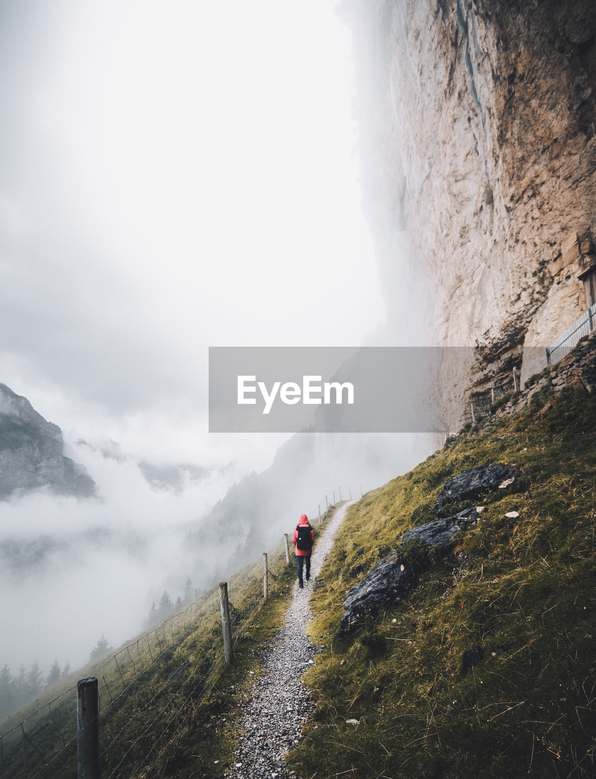 real people, one person, nature, lifestyles, snow, winter, landscape, the way forward, road, outdoors, transportation, beauty in nature, men, leisure activity, tree, mountain, day, full length, adventure, cold temperature, scenics, sky, people, one man only, adults only, adult