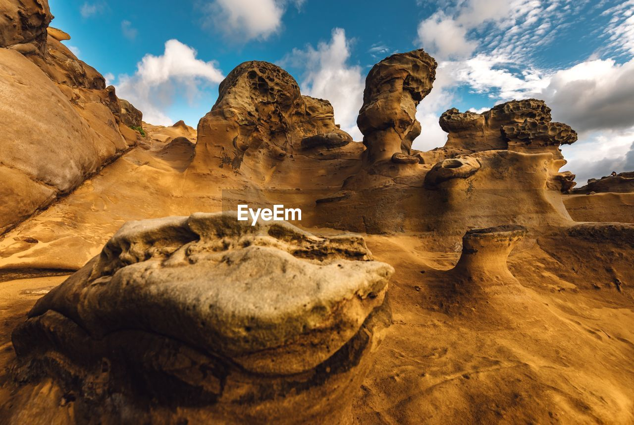 rock formation, rock, sky, cloud - sky, beauty in nature, rock - object, scenics - nature, tranquility, geology, physical geography, solid, tranquil scene, non-urban scene, nature, no people, environment, landscape, remote, idyllic, day, arid climate, climate, eroded, sandstone