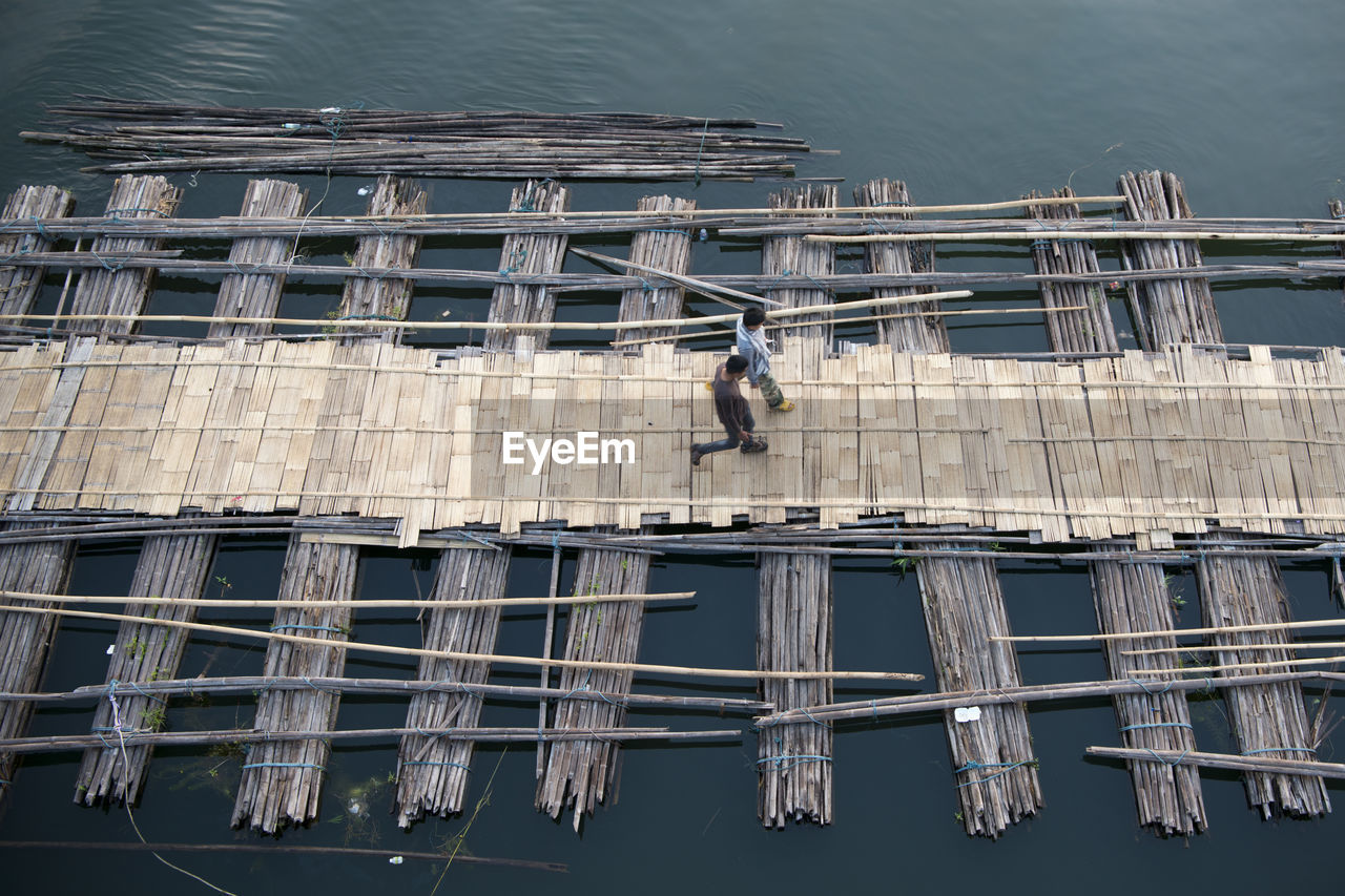Built structure in water