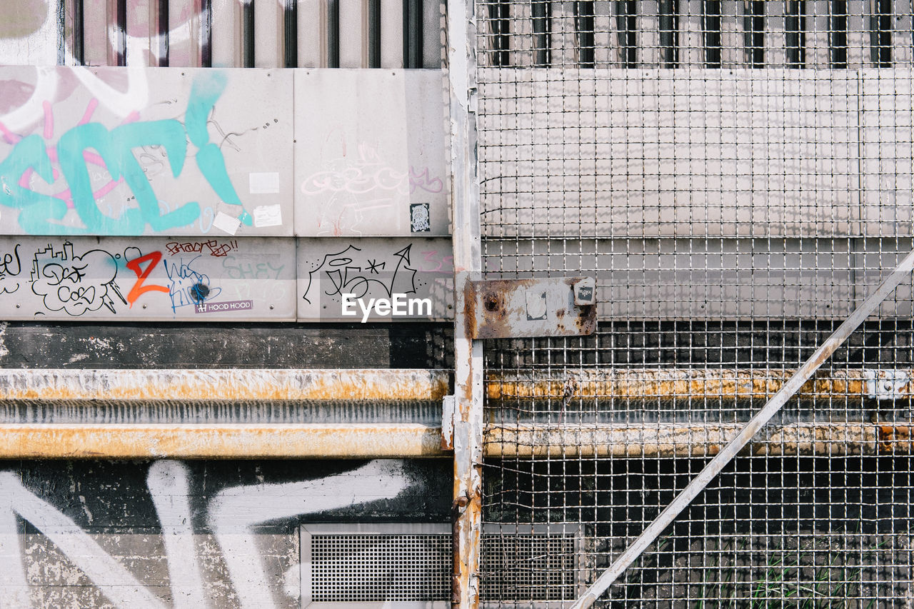 Graffiti On Corrugated Iron