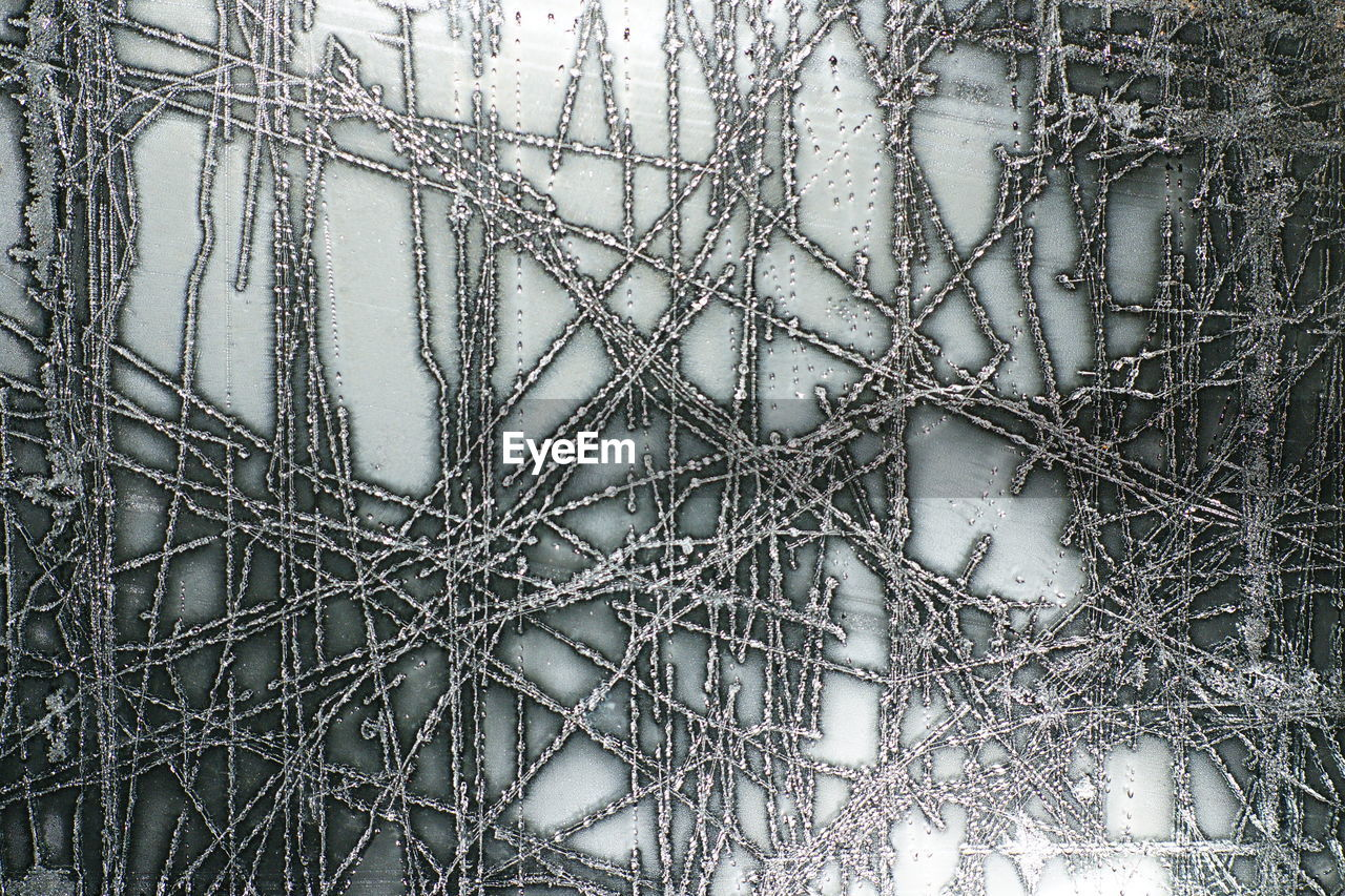 Close up of ice crystals